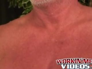 Senior inexperienced stud with petite boner scarcely ejaculates from fapping