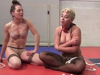 G/g cougar Wresling And restrain bondage