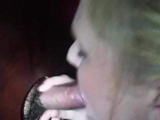 'Gloryhole oral jobs with jizz on Tits'