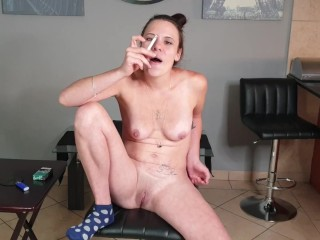 Messy chatting smoking biotch wants you to use her as an ash-pot