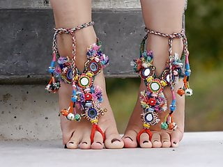 Soles 070 - showcasing Tops And Toes Wearing Tribal Anklet