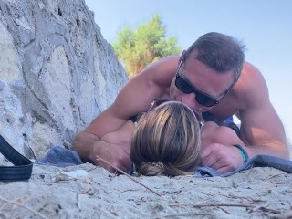 Bathing suit stunner gets humped at the beach