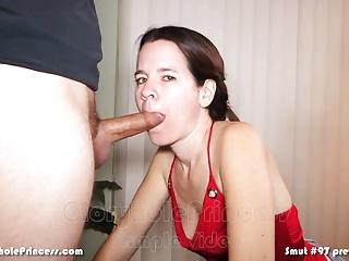 Housewife has a serious spunk slurping fetish!
