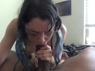 White lady likes gagging on a bbc