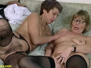 Rough g/g grandma fuck stick sharing