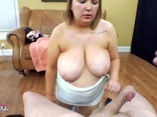 Point of view vagina pulverizing with humungous big-titted mature