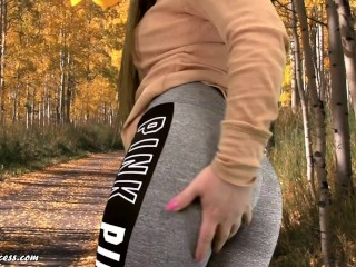It's a handsome Day for a Fart in the Park - Fart queen Kristi tearing Farts Outdoors