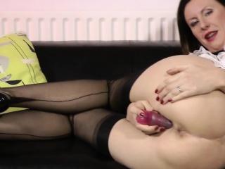Brit maid gropes herself