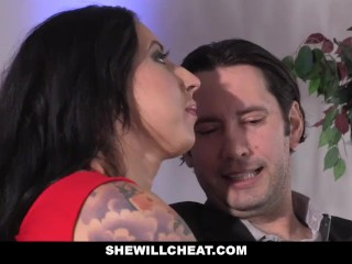 SheWillCheat - bitchy wifey assfucked by spouses mate