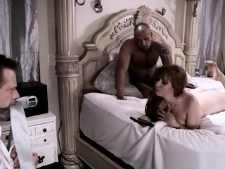 Cuckold wifey bj's big black cock While spouses Tiedup
