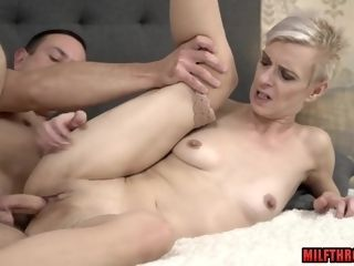 Inborn juggs cougar blow-job fuck-fest and money-shot