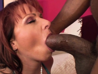 Kylie Ireland rectally wrecked by ample big black cock