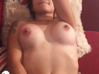 Buxom daughter teases with some faux-cock have fun