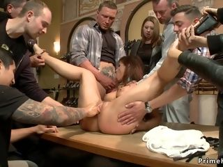 Super-naughty ass mommy is penetrated in public