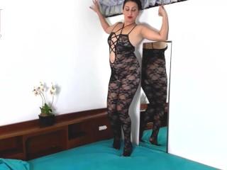 Ebony figure stockings. ?�?2 nubile ladies posing in ebony mesh figure undergarments spectacular undergarments. Webcam trio
