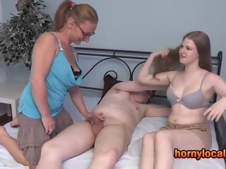 German cougar instructing bang-out in a 3sum