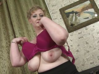 Huge-titted And hefty aged woman disrobes
