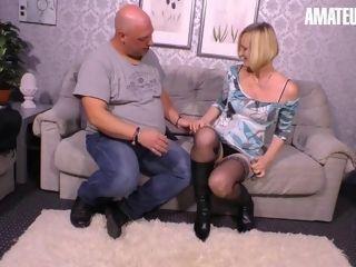 InexperiencedEuro - Real inexperienced duo humping On The sofa