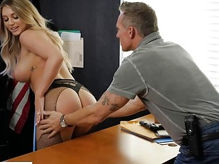 Detective penetrates wife at the police station