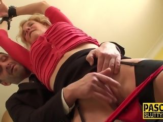 Grannie first-ever restrain bondage bang-out