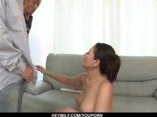 Rei Kitajima puts a plenty of of pecker in her hungry throat - More at Japanesemamas.com