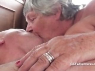 """Older mature grandmother fourway with a one man"""
