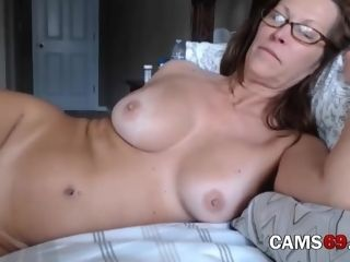 Mature with furry fuckbox and huge milk cans Teasing on web cam