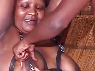 Nasty African mature got trussed up and slapped the way she enjoys the most, all night lengthy