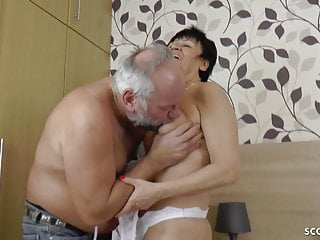 GERMAN grandma AND granddad IN first-ever TIME porno vid