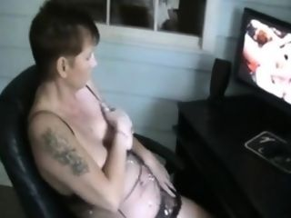 She is witnessing pornography