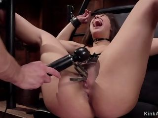 Hotness strapped 18yo college girl marionette is caboosefuck penetrated