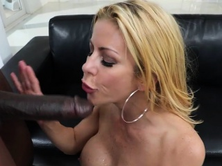 Mummy Alexis castings and rails a big black cock