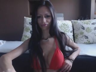Swimsuit, crimson swimsuit, anal invasion toys, fingerblasting, railing