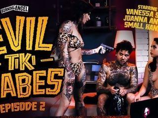 Joanna Angel & Vanessa Sky & diminutive palms in ominous Tiki Babes: vignette 2 - BurningAngel
