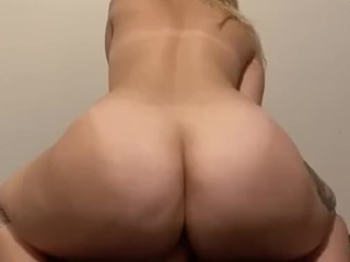 Hefty backside damsel and her faux-cock