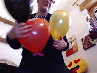 Seven dumping climaxes on seven inflated balloons for you