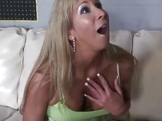 Breast smashing big-boobed cougar