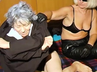 OmaHoteL super-naughty grannie Nun attempts sadism & masochism fucky-fucky With fucktoy