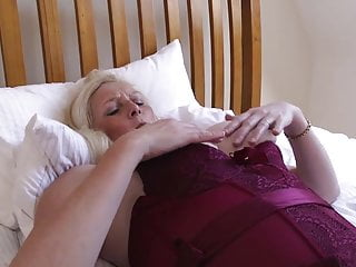 Open corselette and glass fuck stick treating