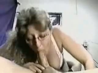 Mature biotch with ginormous tits blowing my schlong deep-throat in point of view