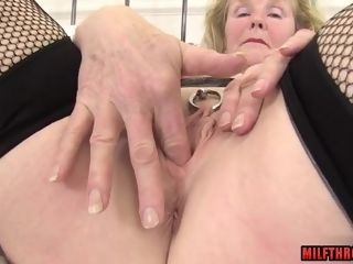 Lustful grandma With Pierced gash