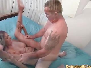 Man meat deep-throating hubbies