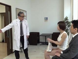 Raunchy chinese wifey plumbing senior medic during checkup