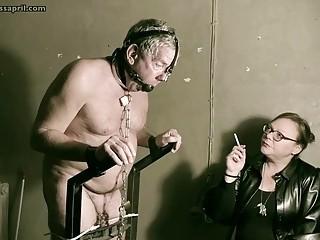 Domina Mistress April - Interrogation in jail cell45