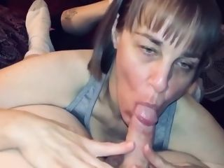 Mature wifey deepthroating Off A buddy And deepthroating And guzzling The jizm Right Out Of Him