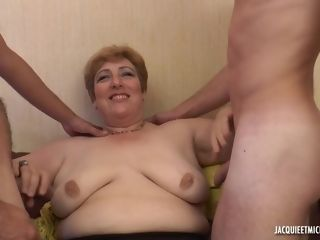 Lush french mother - first-ever gang-bang