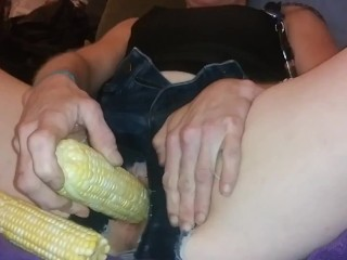 Nailing my puss with corn