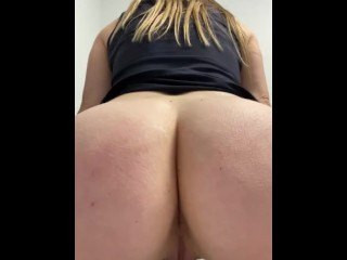 Scorching platinum-blonde wifey with a ultra-cute ginormous backside records herself at work sitting down on the wc | and peeing.