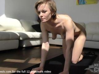 'hot cougar naked yoga'