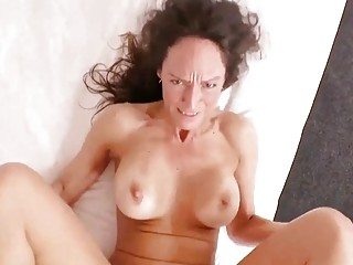 Orgasmic Married mommy Offers first-ever Time caboose pummeling